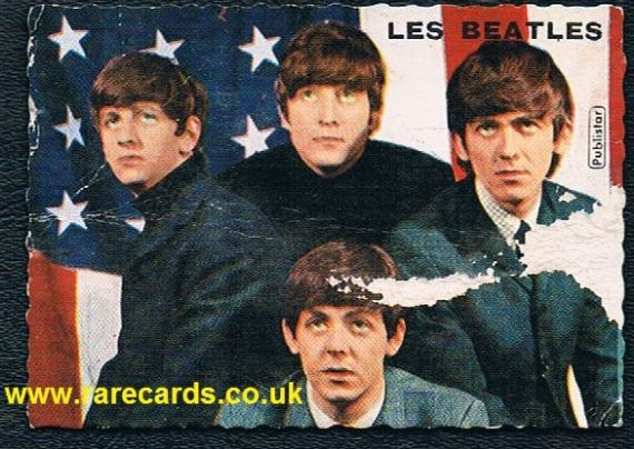 Les Beatles French card damaged Publistar